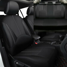 Universal Black PU Leather Seat Covers for Car SUV Auto Front Rear Accessories
