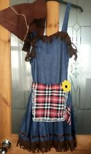 Women's Scarecrow Fancy Dress Outfit Size Large (14-16)