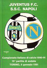 CARTOLINA SPORT JUVENTUS F.C - S.S.C. NAPOLI CAMPIONATO DI CALCIO 1990-91 C6-354