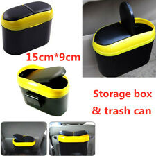 Storage Box Trash Can Car Flip Door Side Increase Clip Thickening Barrel Wall X1