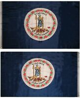 3x5 Virginia Double Sided 2ply Sewn Poly Nylon Flag 3'x5' Banner Grommets