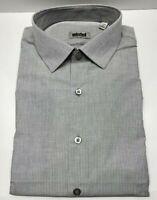 "Kenneth Cole Unlisted Men's Slim Fit Stripe Dress Shirt,  L 16""-16.5"" 34""-35"" 32"