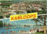 Unmailed Vintage Grande Traveltime Post Card Kamloops B.C. Canada Riverside Park