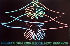 Big Welcome, 1985 by Bruce Nauman 1985 Leo Castelli Exhibition Art Print Poster