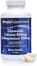 Calcium et Magnésium à Croquer  - Au bon goût Citron- 120 comprimés