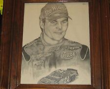 PICTURE OF JEFF GORDON IN WOODEN FRAME WITH GLASS #24 FAN A MUST TO OWN