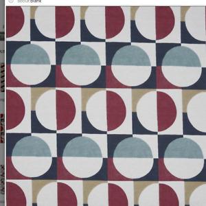 ROMAN BLIND BLACKOUT PRESTIGIOUS ARC RETRO PO ART CIRCLES RED BROWN BLUE BLACK