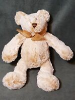 "Animal Adventure 2016 Plush Stuffed Animal Soft 10"" Teddy Bear With Gold Bow"