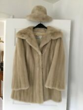3/4 Length Mink Fur Coat and Matching Hat