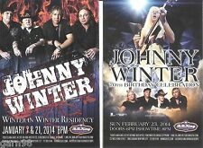 Johnny Winter 70th Birthday Concert Handbill Mini-Poster BB Kings NYC