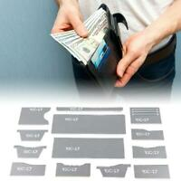 13Pcs Stencil Template Acrylic DIY Clear Pattern Wallet Tool Craft Leather GL8P