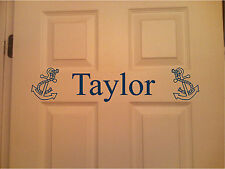 Personalized Name & Anchor Wall Art Wall Decor Bedroom Door Sticker
