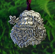 Santa Claus Christmas Decoration | Santa Christmas Tree Ornament in Fine Pewter
