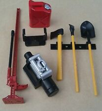 1/10 RC Crawler/camión Tool Kit Rojo