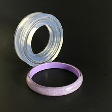 CLEAR SILICONE MOLD, (MB110) FOR THIN BANGLE BRACELET! SIZE M