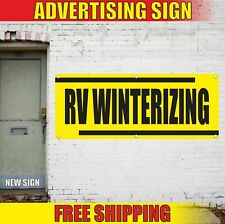 Rv Winterizing Advertising Banner Vinyl Mesh Decal Sign Camper Trailer Repair