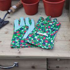 NEW Ladies Classic Lightweight Floral Gardening Gloves Heavy Duty Garden Gripper
