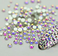 NEW Mixed Size Clear Rainbow Rhinestone Decoration Nail Art Crystal Gem UK