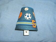 #129 - SPORTS THEMED LAMPSHADE STYLE NIGHT LIGHT FOR KIDS' ROOMS, BATHROOM, HALL