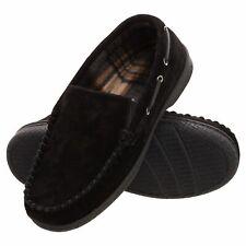 Heat Edge Mens Memory Foam Suede Slip On Venetian Moccasin Slipper Shoe