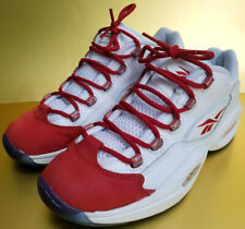 Reebok Question Low White / Flash Red Ice Sz 10 US V70252 Allen Iverson 2015