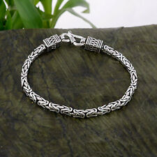 925 Solid Sterling Silver Oxidize Unique Handcrafted Designer Men's Bracelet