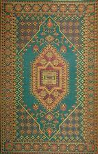 Mad Mats Large Oriental Turkish Indoor/Outdoor Floor Mat 4 by 6-Feet Aqua Rug