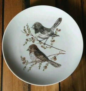 Antique Vintage Collectable Handpainted Thomas Germany Birds Plate Signed E.P
