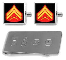 Sterling Manschettenknöpfe Geldklammer U.S Marines Corporal