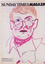 DAVID HOCKNEY Montgomery RICHARD HAMILTON Andy Warhol SUNDAY TIMES art magazine