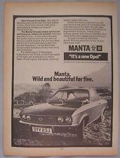 1971 Opel Manta Original advert No.2