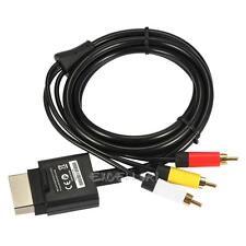 Audio Video AV RCA Video Composite Cable Cord For Xbox 360 Slim Game Joypad 1.8m
