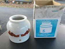 Water Crock White Porcelain Ceramic Water Bottle jug Dispenser +Faucet + Ring