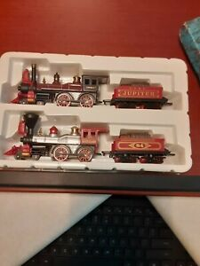 High Speed Jupiter 84 train set x 2 steam engins and coal cars