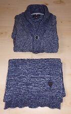Magnifique lot DANIEL HECHTER : 1 cardigan bleu (taille S) + écharpe !