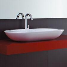 Lavandino Lavabo Appoggio Design moderno Ovo in Ceramica bianco 80 cm