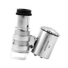 Useful Coins Glass Magnifying Eye 60x Microscope Magnifier Loop Loupe Jewelry