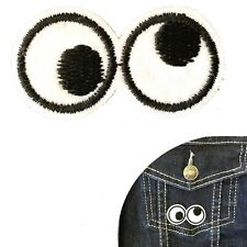 Goggly eyes Iron on patch eye roll cartoon eye ball embroidery transfer patches