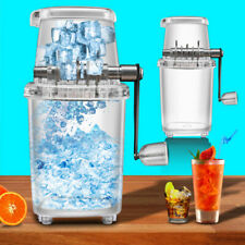 Manual Ice Crusher Hand Shredding Crusher Snow Cone Maker Machine Transparent