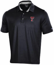 Texas Tech Red Raiders Men's Black Blitz Synthetic Polo Shirt