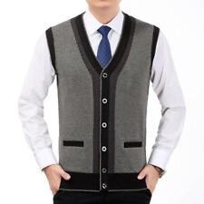 Men Knitted Sweater Vest Sleeveless Leisure Warm Waistcoat Gilet Jacket Cardigan