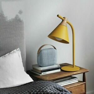 Modern Iron Wood Cutting Board Band 4 Color Children's Decoration Table Lamp