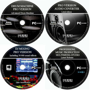 Pro Studio Audio Video Music Editor Creator Mixer Multi Track Record Mix PC CD +