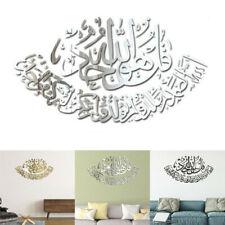 Fashion Muslim Islamic 3D Acrylic Mirror Wall Stickers Wall Art Home Decor