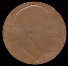 FRANCE / CHARLES DE GAULLE / LARGE MEDAL 1970 BY A. RIVAUD /  M67