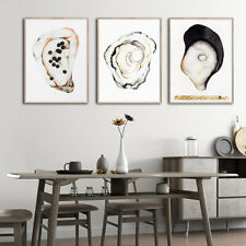 Shell Food Poster Print Kitchen Painting Canvas Poster Art Print Home Wall Decor