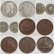 Monnaies BELGIQUE Centimes francs Léopold 1832 - 1909 Choisissez votre monnaie!