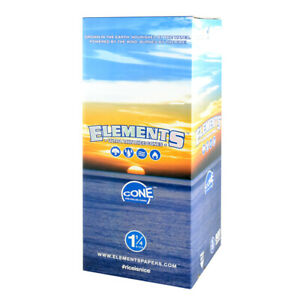 """900pc Box - Elements Rice Pre-Rolled Cones - 1 1/4"""""""