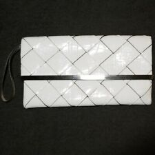 The Limited White Envelope Clutch Purse