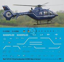 Peddinghaus 1/87 (HO) EC135 T2+ Helicopter Markings D-HVBM Bundespolizei 3273